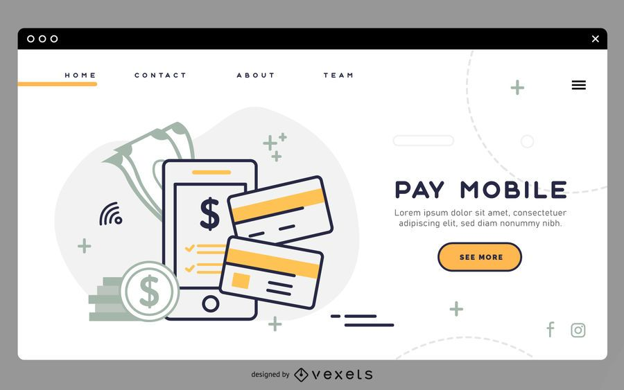 Pay mobile landing page template