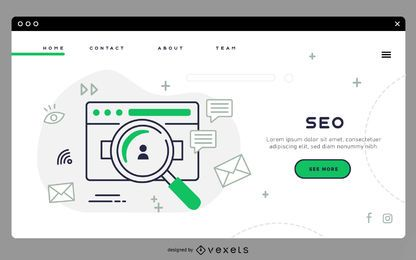 SEO landing page template