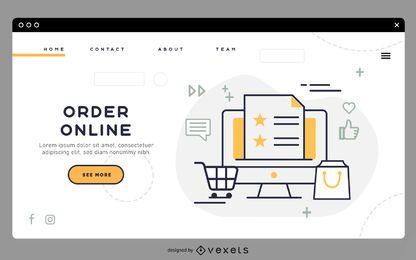 Order online landing page template
