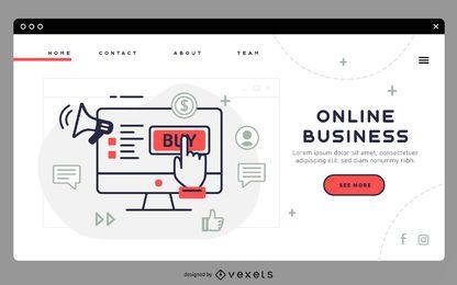 Online Business Landing Page Vorlage