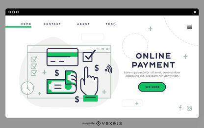 Plantilla de página de destino de pago en línea