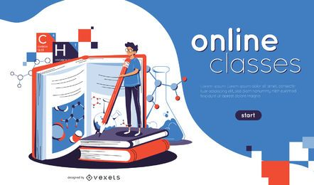 Online Classes Illustration Web Slider