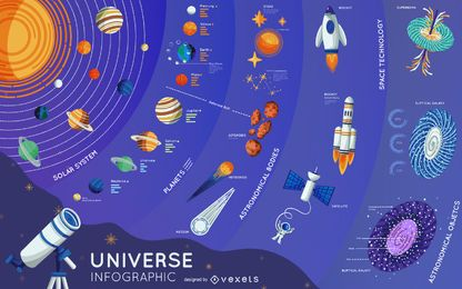 Universe Elements Infografik Design