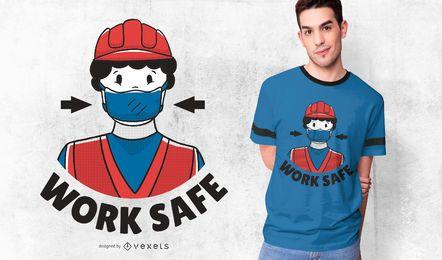 Projeto seguro do t-shirt do trabalhador do trabalho