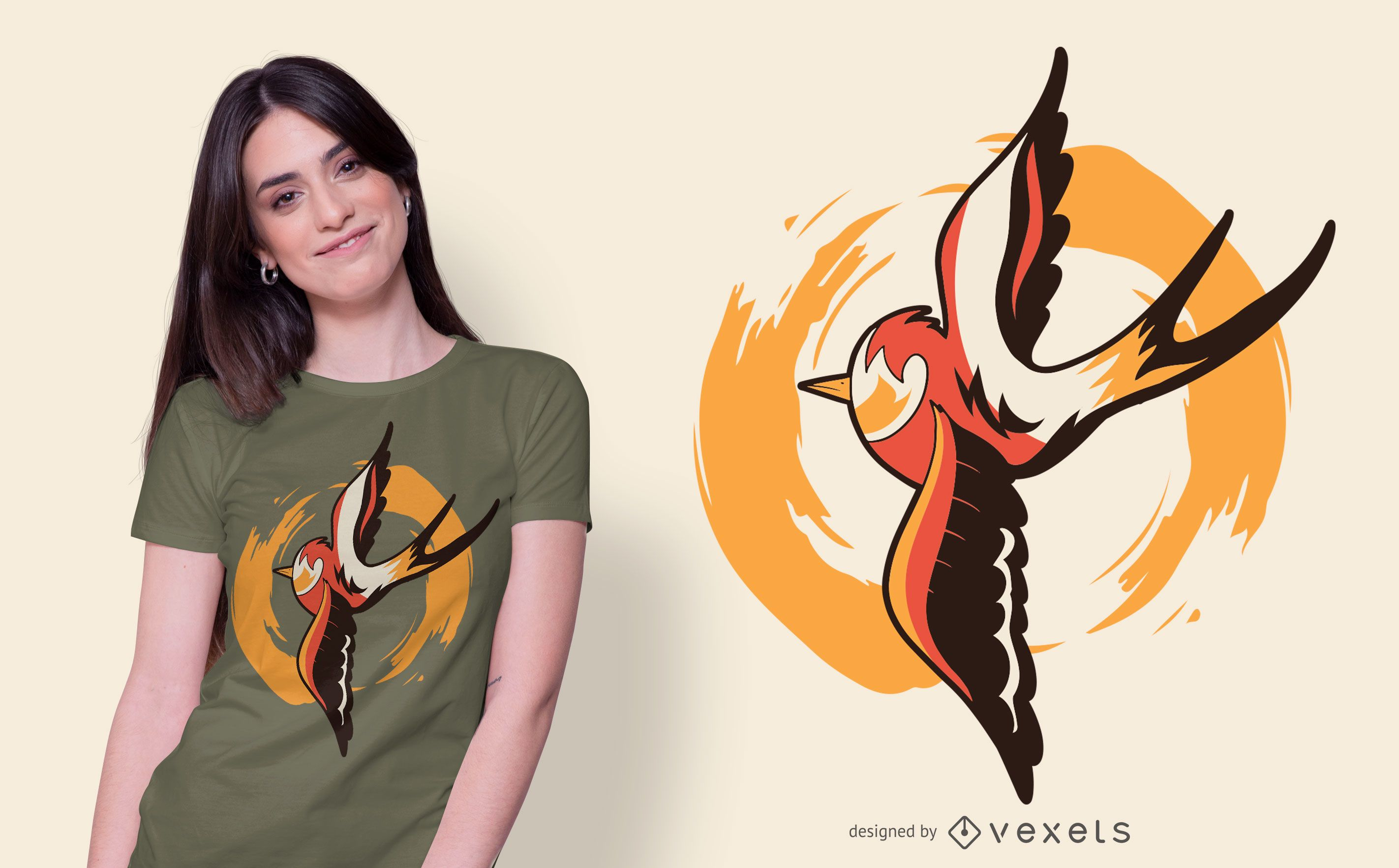 Old School Swallow T-shirt Design
