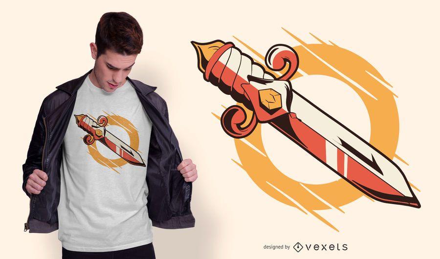 Old School Dagger T-shirt Design