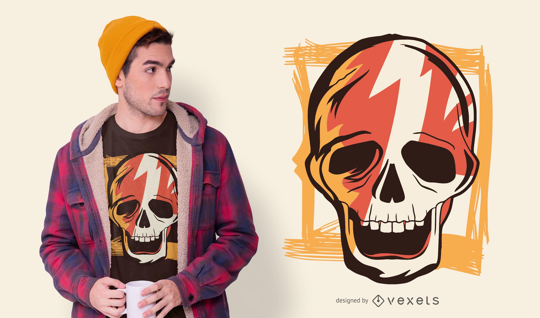 Old School Skull T-shirt Design