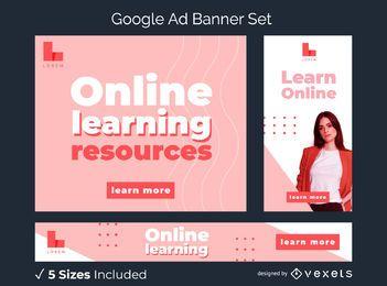 Paquete de banners publicitarios de Google Learn Online