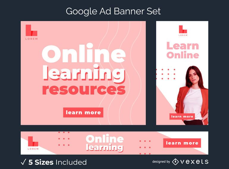 Learn Online Google Ad Banner Pack