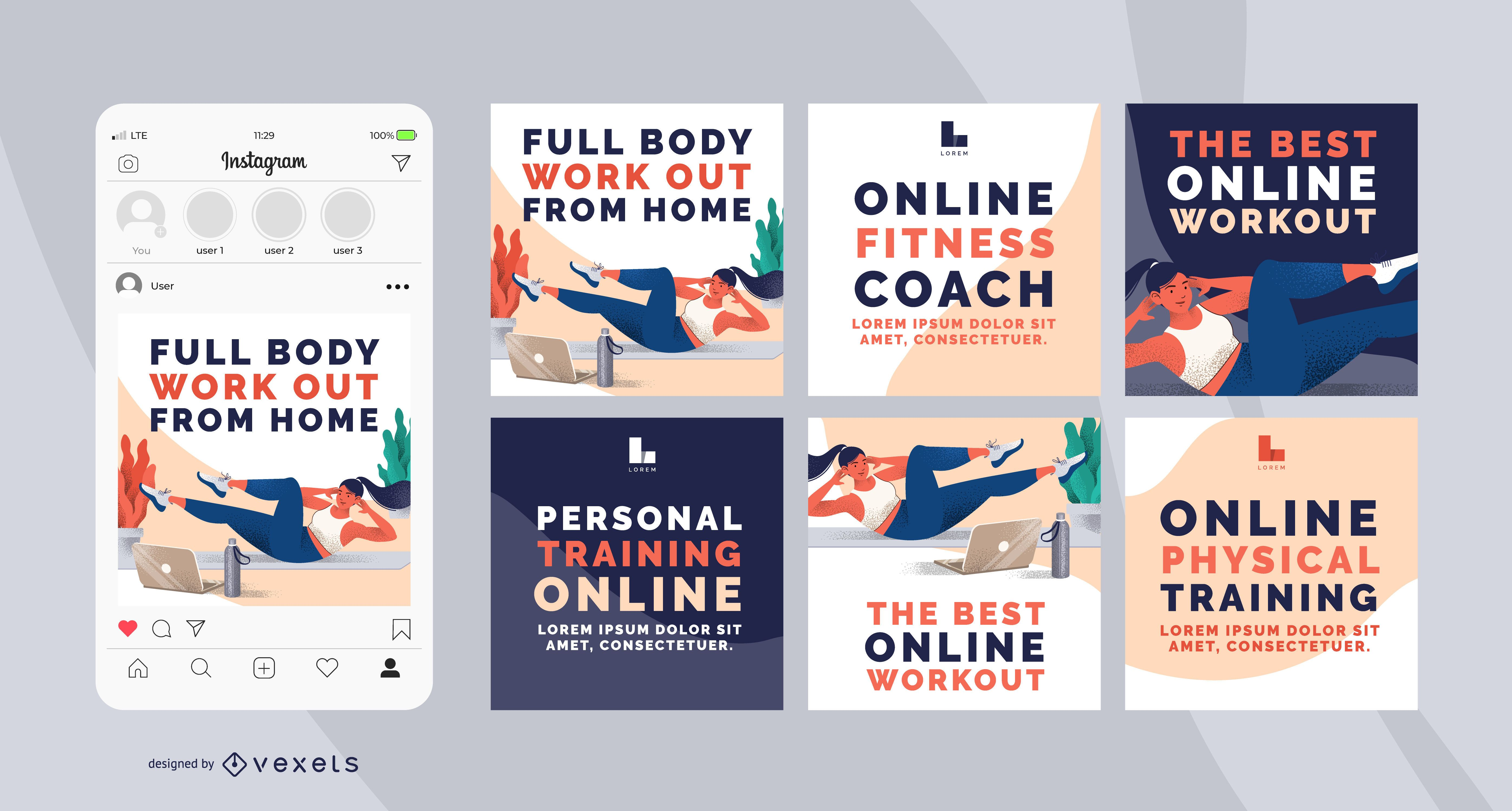 Home Workout Social Banner Pack