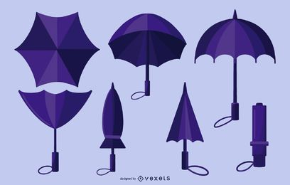 Purple Umbrella Design Pack
