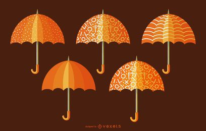 Orange Ornamental Umbrella Pack