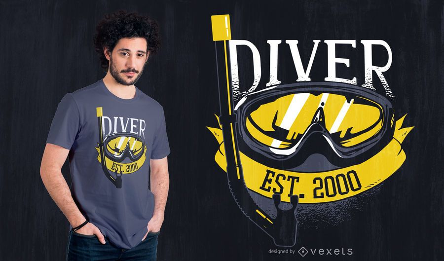 Diver Since 2000 T-shirt Design