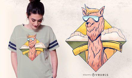 Diseño fresco de la camiseta de la alpaca