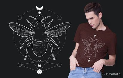 Geometric Occult Bee T-shirt Design