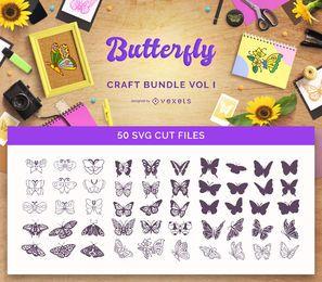 Pacote de artesanato de borboletas Vol I