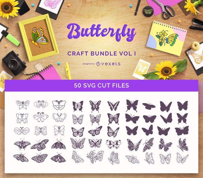 Paquete de manualidades de mariposas Vol I