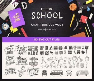 Paquete de manualidades escolares Vol I