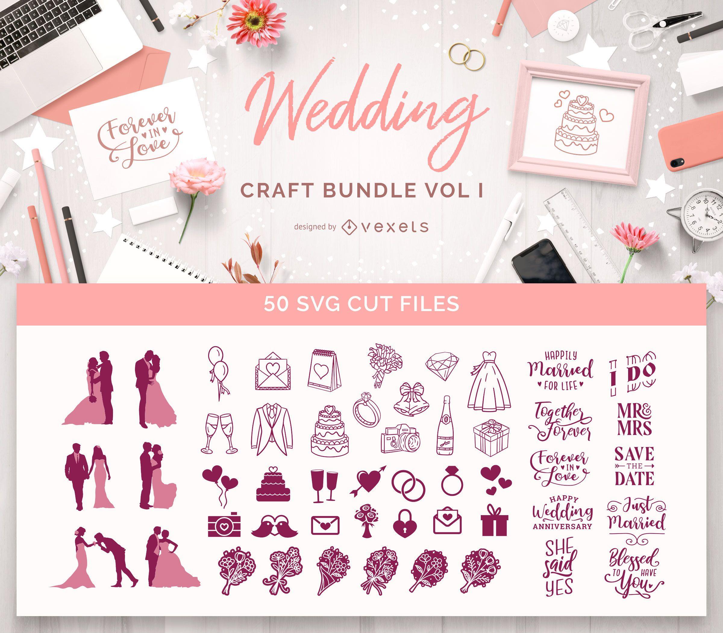 Paquete de manualidades para bodas Vol I