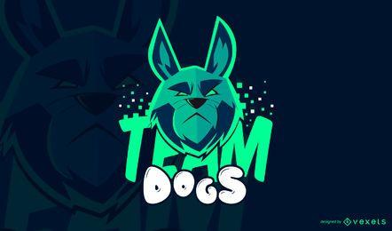 Modelo de logotipo de jogos de cães