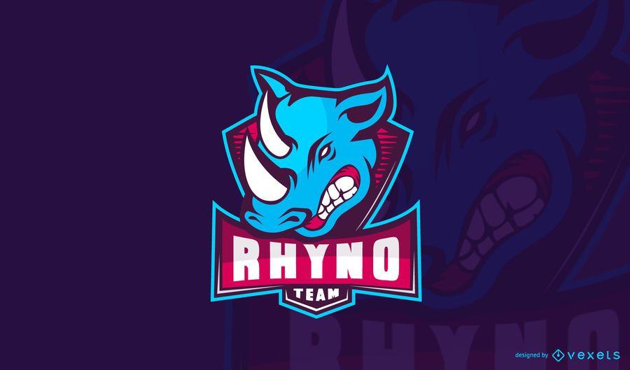 Plantilla de logotipo de rhyno gaming