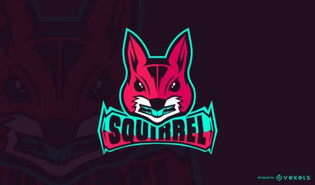 Modelo de logotipo do Squirrel gaming