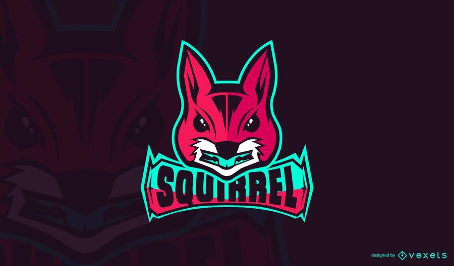 Plantilla de logotipo de juego de ardilla