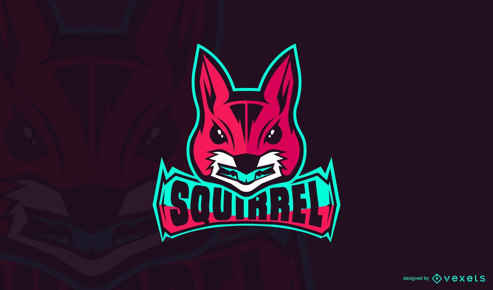 Squirrel gaming logo template