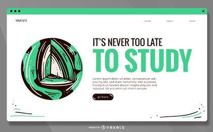 Design educacional do controle deslizante de página da Web