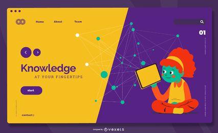 Página de destino do conhecimento em educação