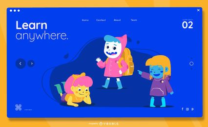 Learn anywhere kids landing page