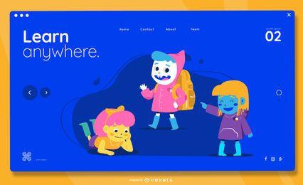 Página de destino para crianças em qualquer lugar