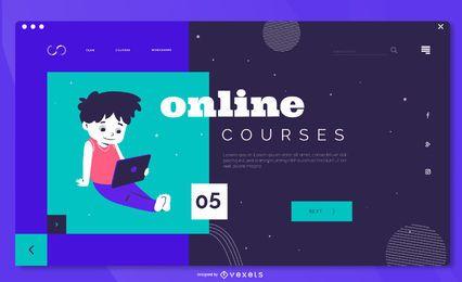 Modelo de página de destino de criança de educação on-line
