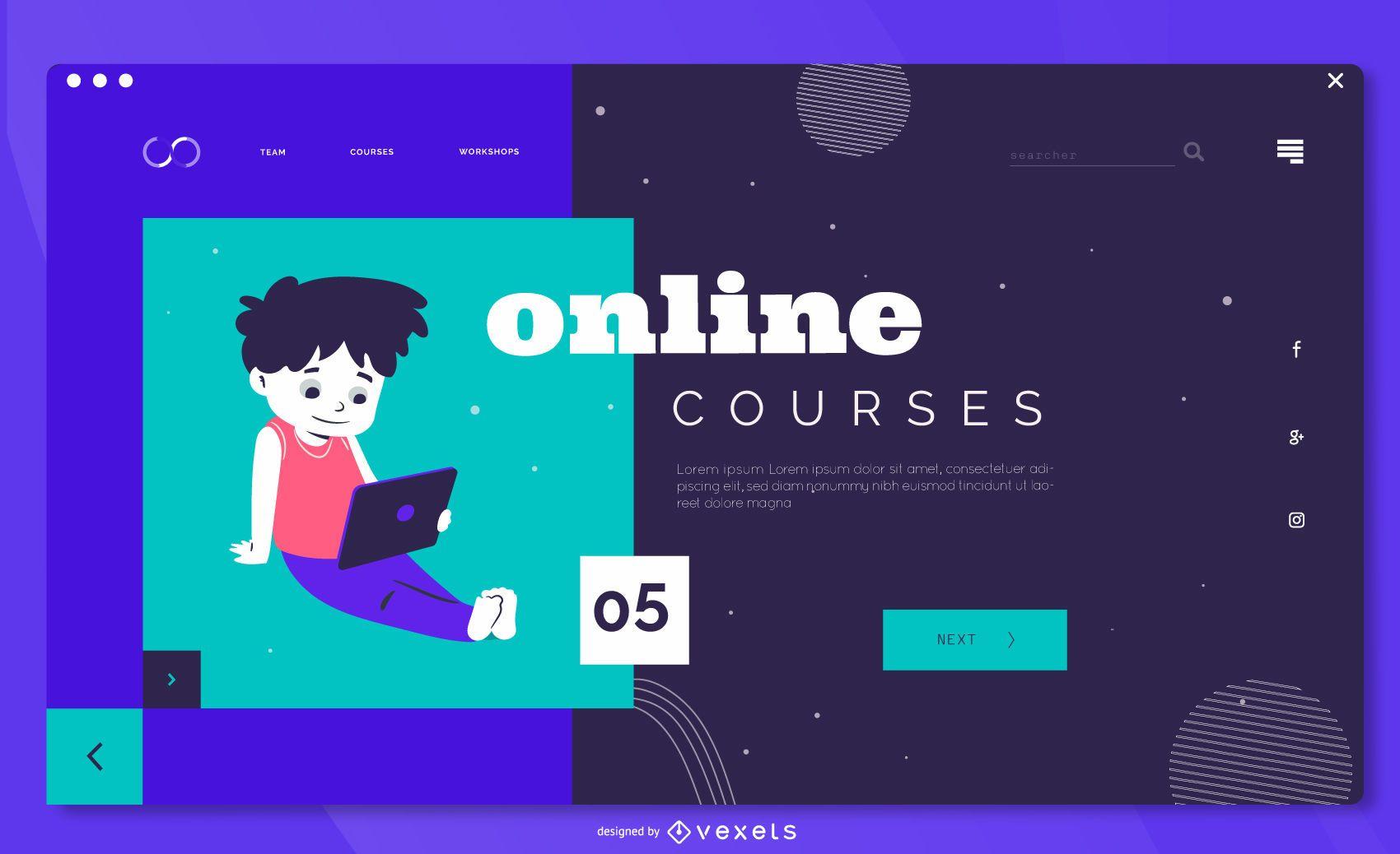 Plantilla de página de destino para niños de educación en línea