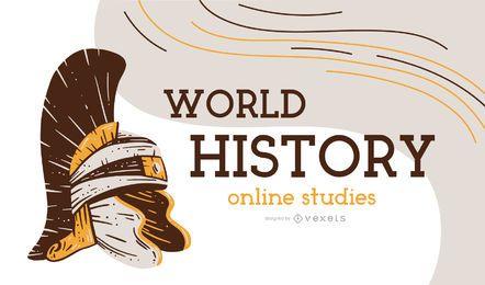 Diseño de portada de historia mundial