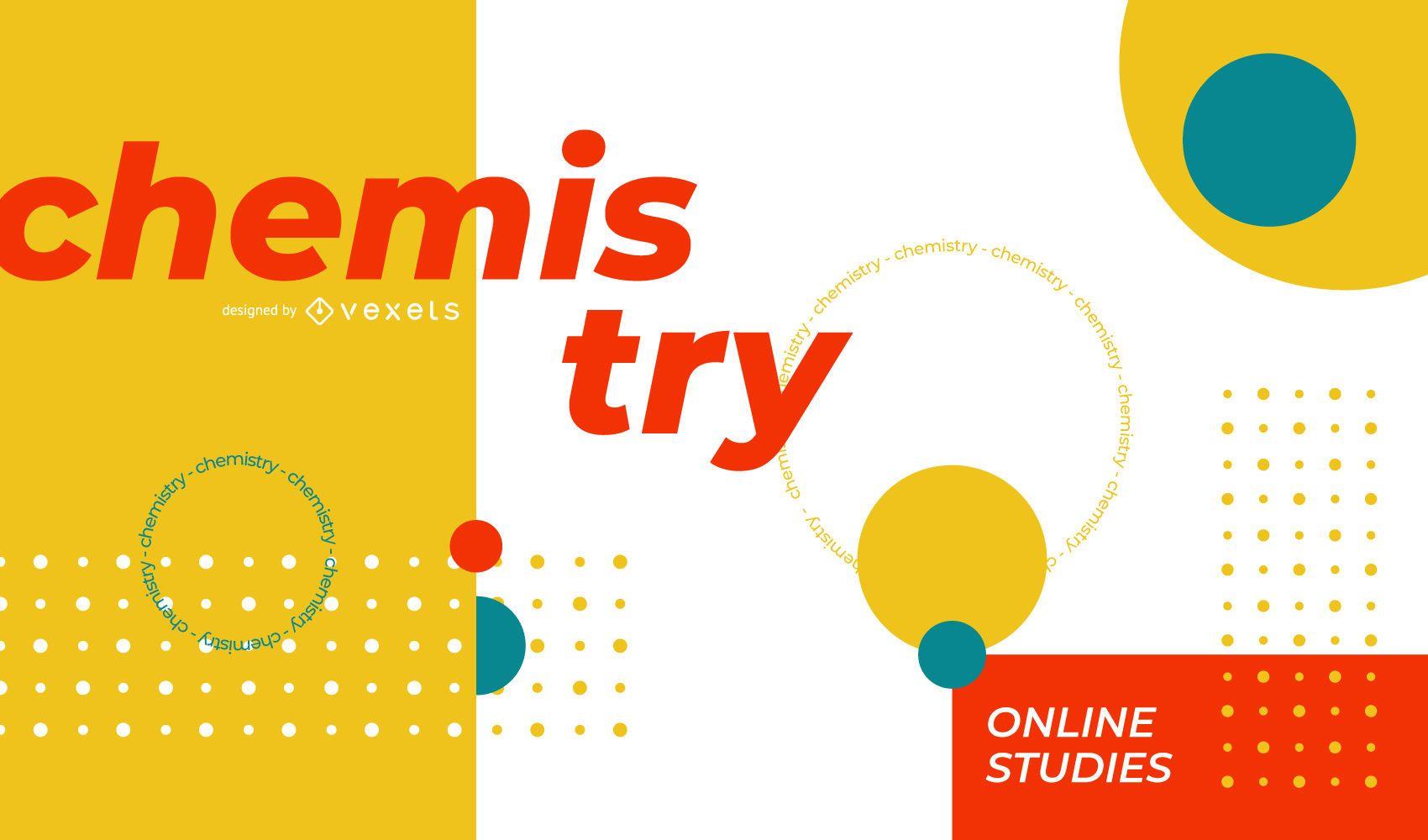 Chemistry online cover design