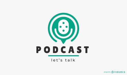 Podcast let's talk logo template
