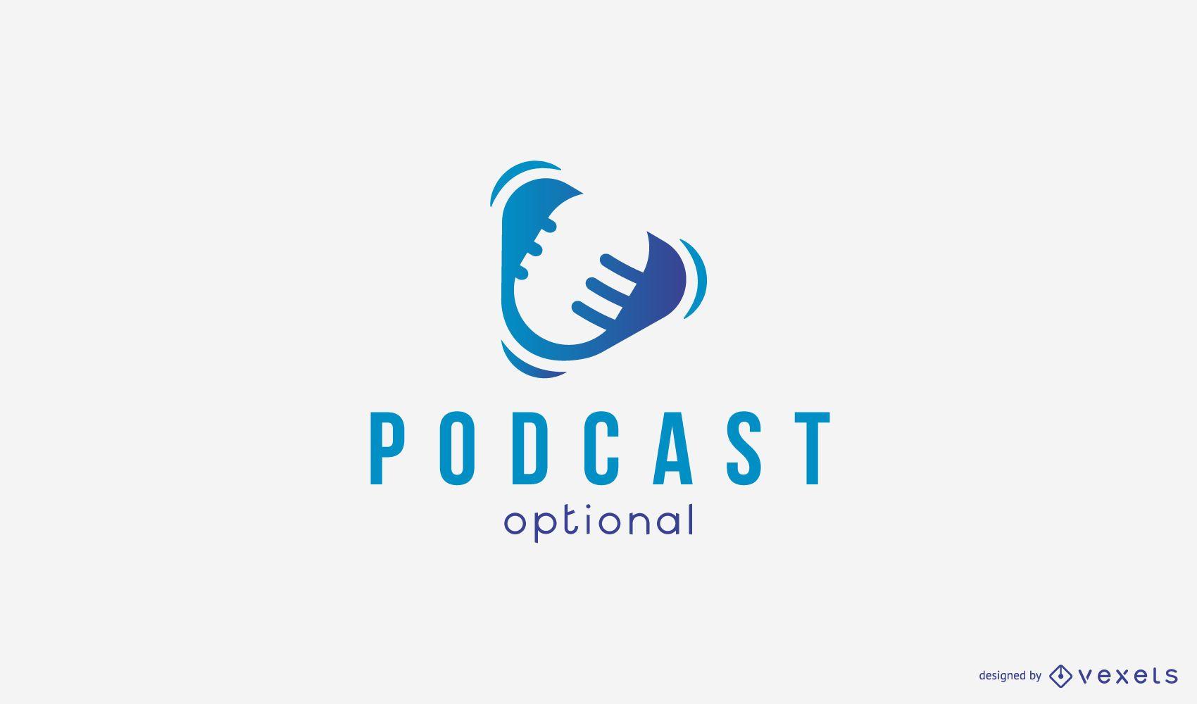 Modelo de logotipo de podcast