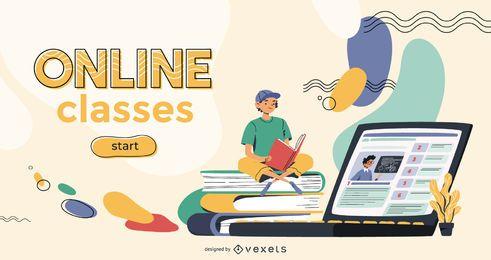 Plantilla de control deslizante de clase en línea