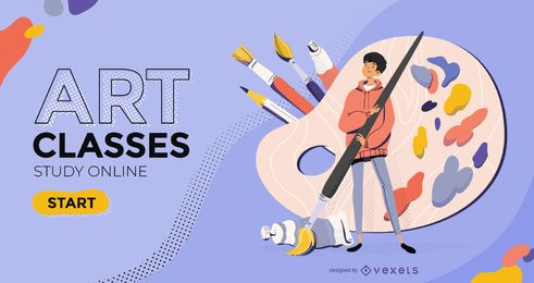 Art classes slider template