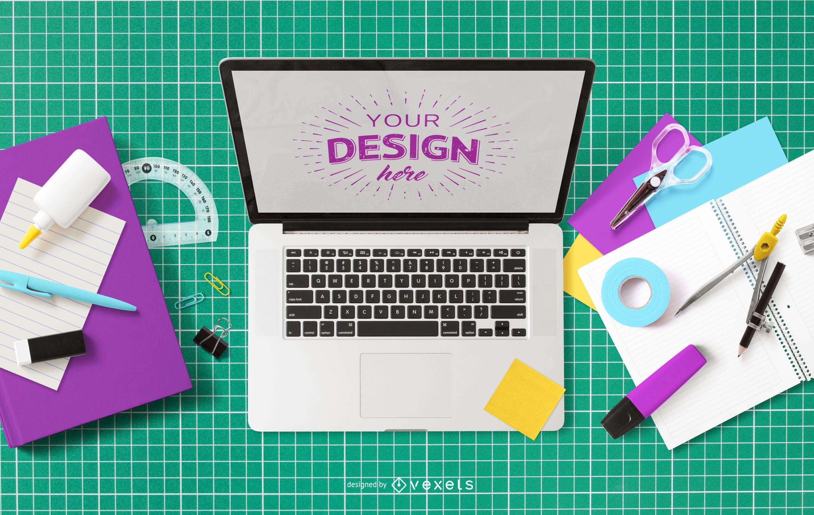Education computer mockup design