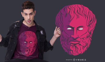 Aristoteles Philosoph T-Shirt Design