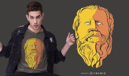 Epicurus Philosopher T-shirt Design