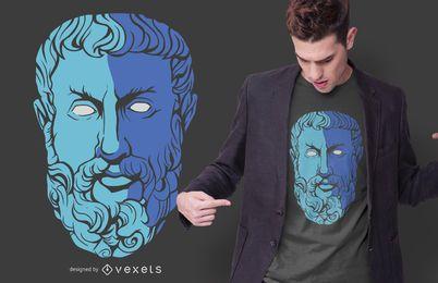 Diseño de camiseta de filósofo de Heráclito