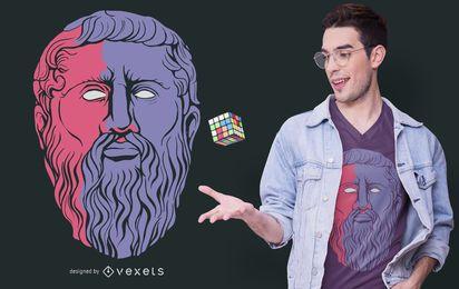 Diseño de camiseta de filósofo de Platón