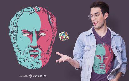 Diseño de camiseta de filósofo de Tucídides