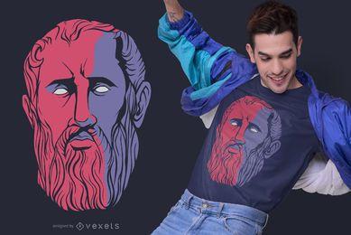 Zeno of Citium Philosopher T-shirt Design