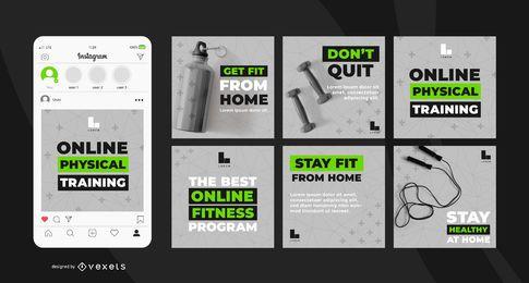 Pacote de banner do programa de exercícios on-line
