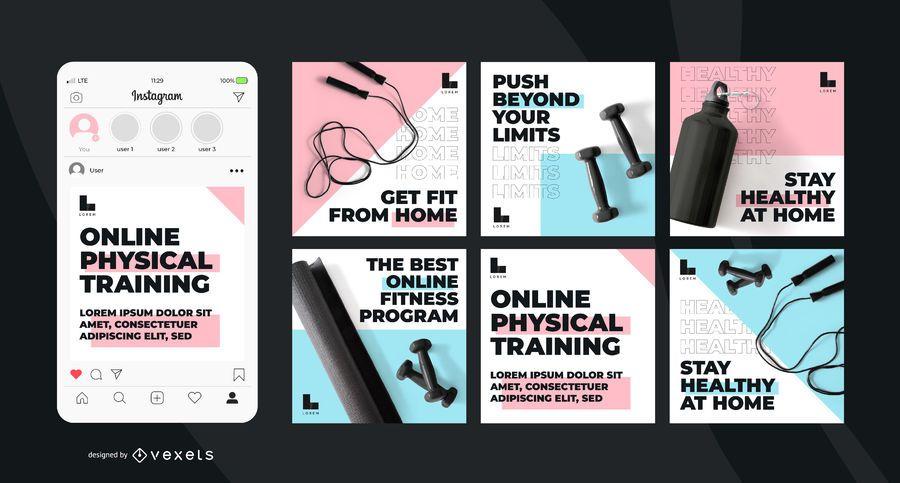 Online training social media posts set