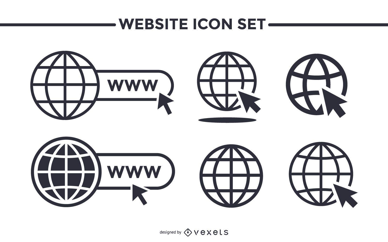 Conjunto de iconos de sitio web